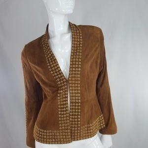 Vintage DONCASTER suede gold grommets jacket